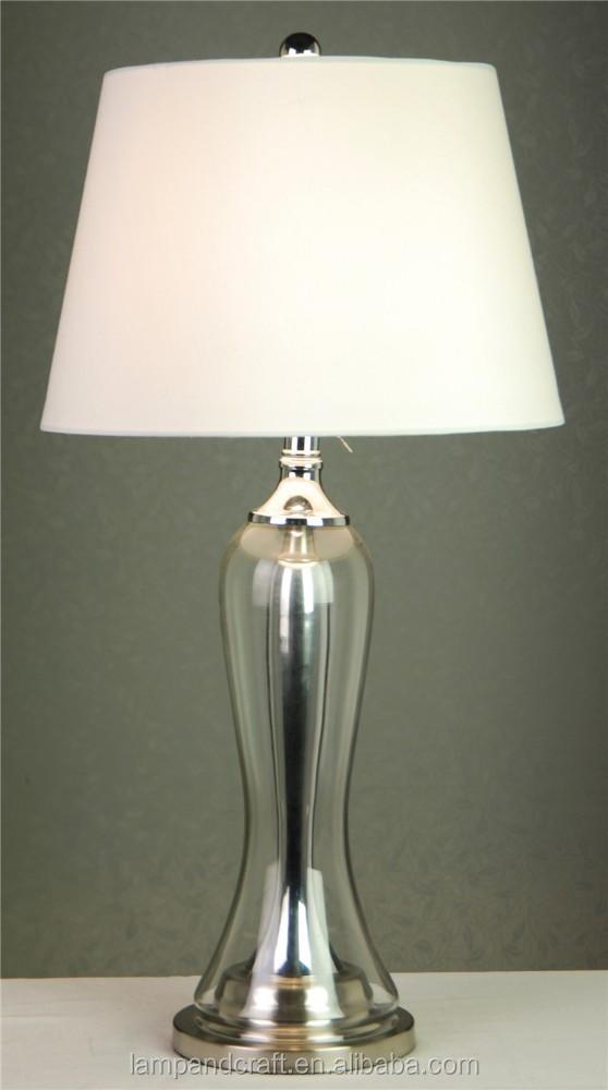 beat preis moderne glas steckdose tischlampe led tischleuchte beleuchtung mit stoff lampenschirm. Black Bedroom Furniture Sets. Home Design Ideas