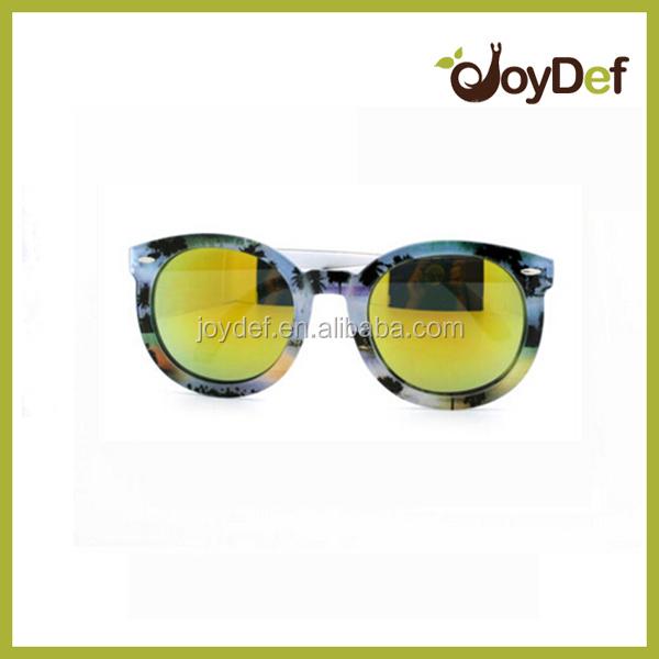 Promozione occhiali da sole occhi di gatto lenti a specchio colorate stampa del modello occhiali - Occhiali lenti colorate a specchio ...