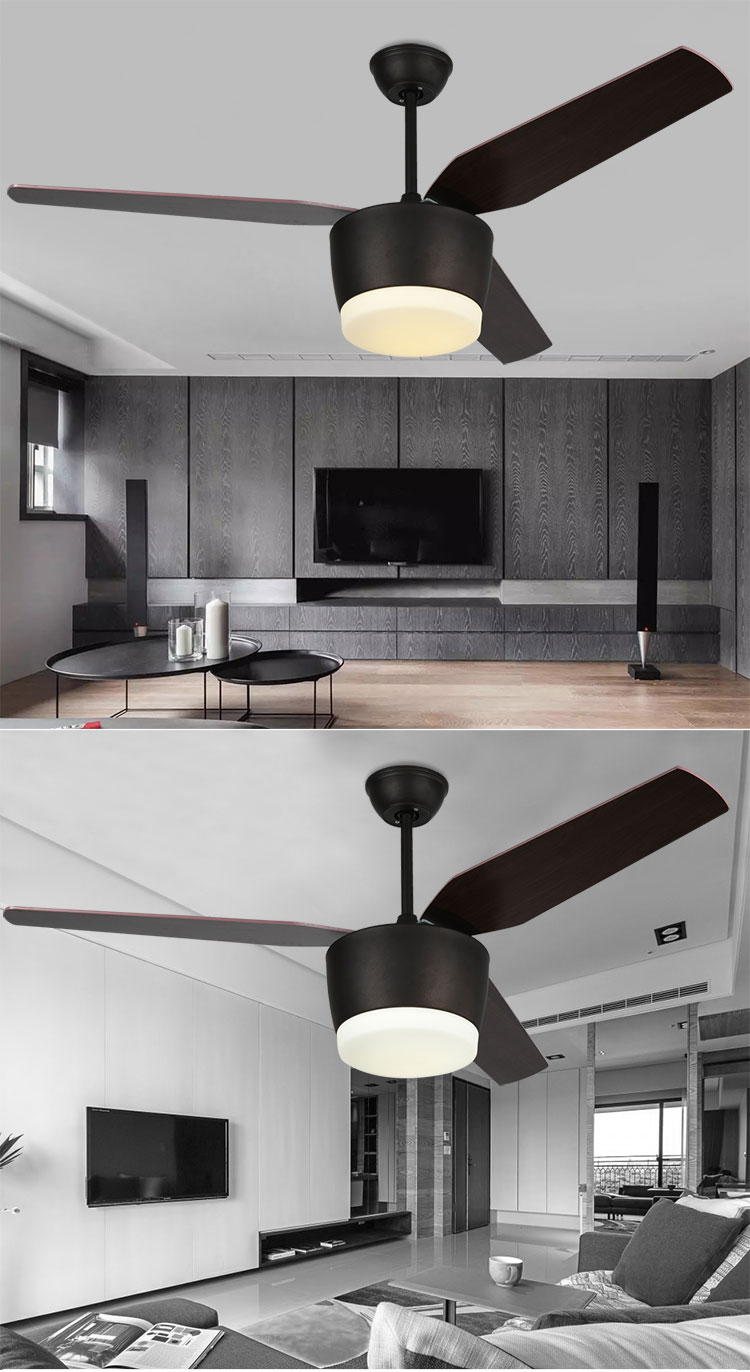 Hot Sale 3 Wooden Fan Blades Ceiling Fan Lamp indoor Ceiling Lights