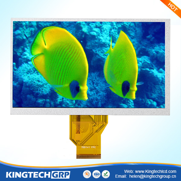 50 pin 7 inch display active matrix tft color lcd with rgb interface
