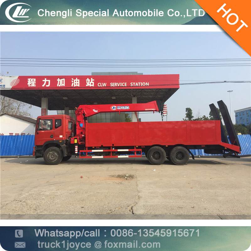Heavy Crane With Straight Arm Military Lorry Truck Mounted 15 Tons Crane