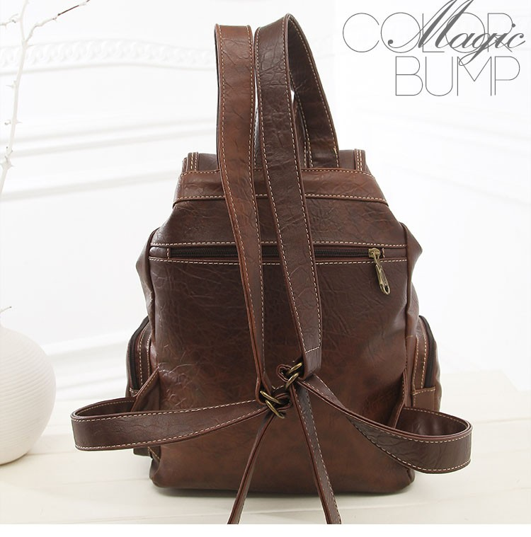 63e3b60997b9 New Arrivals Women Backpacks Fashion Vintage Backpacks for Teenage Girls  Students School bags High Quality PU leather HIGH quality big capacity  brown ...