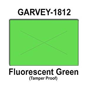 280,000 Garvey 1812 compatible Fluorescent Green General Purpose Labels to fit the G-Series 18-5, G-Series 18-6, G-Series18-7 Price Guns. Full Case + includes 20 ink rollers.