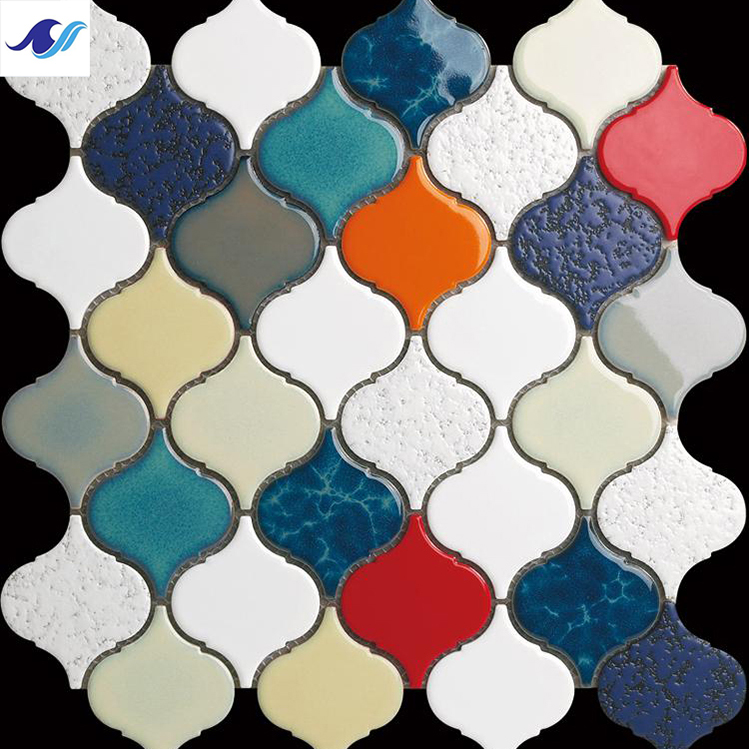 Color decoration 3''x3'' backsplash lantern ceramic mosaic <strong>tiles</strong>