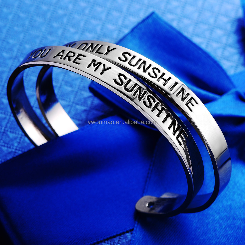 You are my Sunshine My only Sunshine Bangle Bracelet Cuff Wrist Alloy Open Bracelet