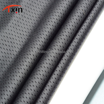 high quality polyester pinhole shaped mesh shining color warp knitted mesh fabric