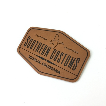 High quality Customized design embossed Leather Patch Private Labels for Clothing and Jeans