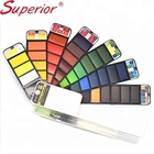 Superior New Product Solid Water Color Paint Set Fan Shaped pocket water color 42 Colors Paint Sat For Drawing