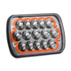 Orange LED Headlights DRL Angle Eye Jeep XJ YJ 7x6 5x7 LED Headlights