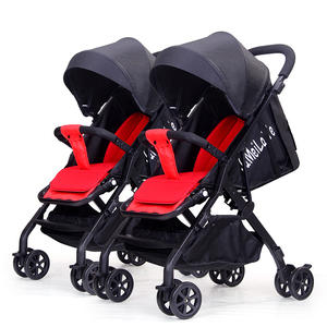 Aluminum alloy lightweight easy foldable twin stroller double