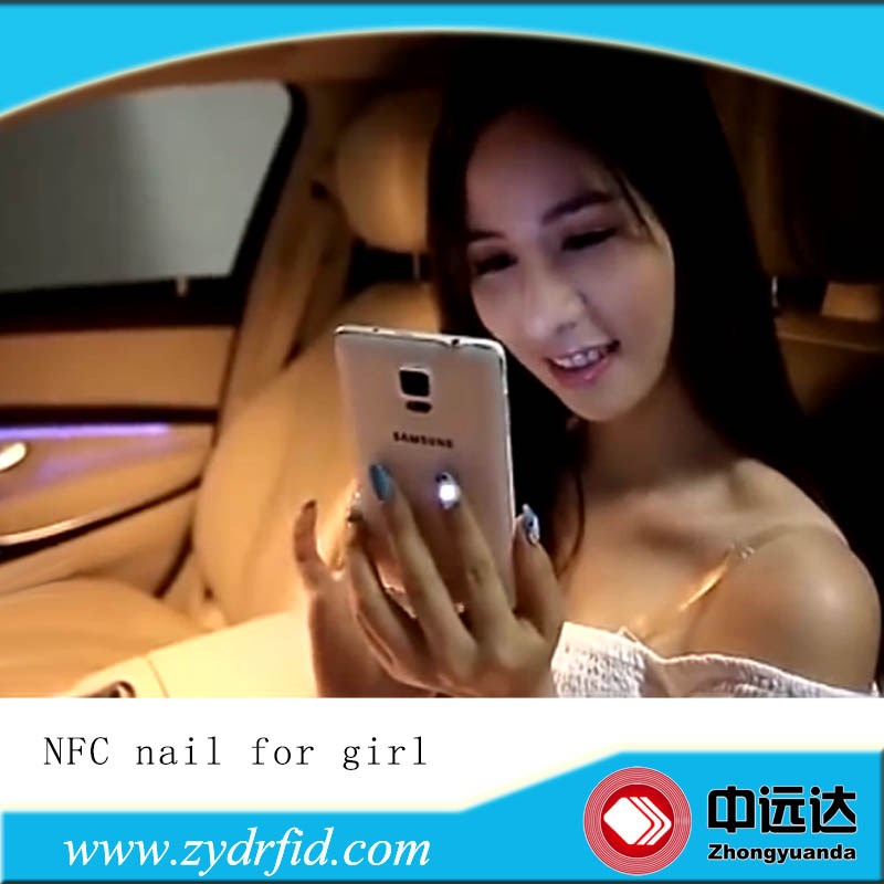 Smart Nfc Nail Flashing Mobile Phone Led Light Sticker