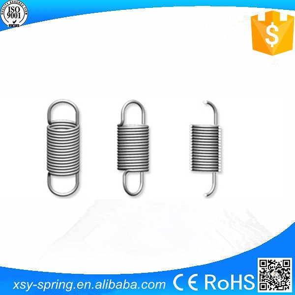 stainless steel 0.8mm small type double hook tension spring