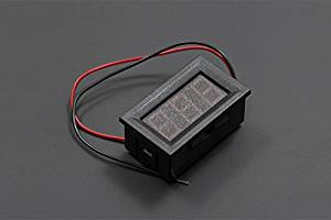 Angelelec DIY Open Source LED Voltage Meter Red,Standalone DC Voltage Meter Measures 3V-30V With 1% Accuracy Suited for Battery Level Display, Apply Two Wires on the Power Without Any Extra Circuit