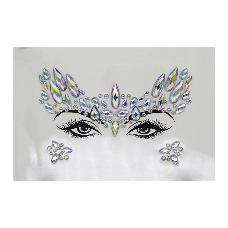 New fashion styles stickers body jewels face gems for festival party