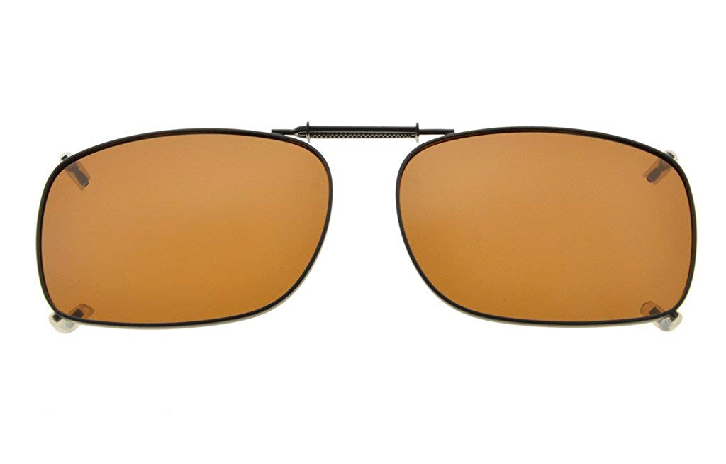 1079c498b5ee Get Quotations · Eyekepper Metal Frame Rim Polarized Lens Clip On Sunglasses  2