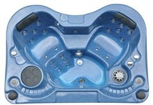2012 new arrival luxury mini indoor massage hot tub for 2 people with CE certification and flower shape