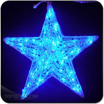 blue acrylic outdoor led christmas star