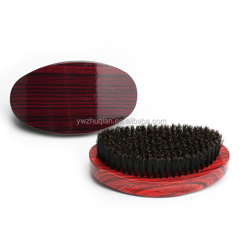 Custom Beech wood Soft 360 Wave boar bristl  brush