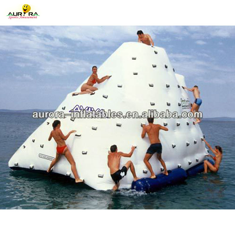 Inflatable Floating Iceberg Climbing Wall Inflatable Floating Iceberg Island Ocean aquatic Floating Inflatable Climb Iceberg фото