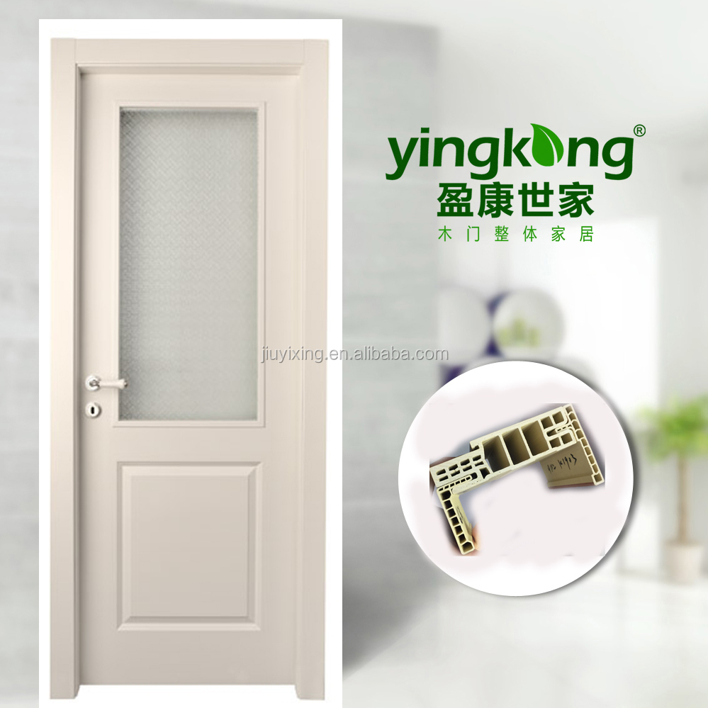 Henan Jiuyixing Manufacturer 40MM Thick Cheap Laminated Bathroom WPC Door