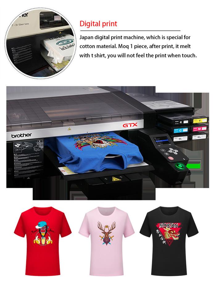 Premium heavy gewicht t-shirt 100% katoen 6.1 ounce shirts korte mouwen crewneck tees mannen t-shirt