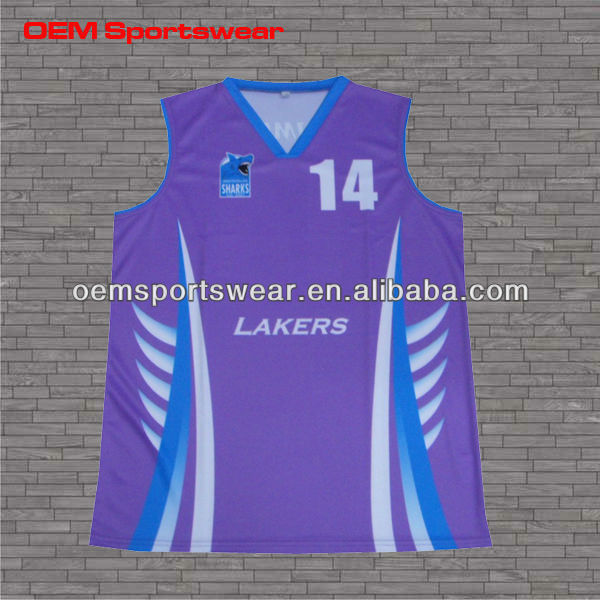 Made in China sublimated latest basketball jersey design