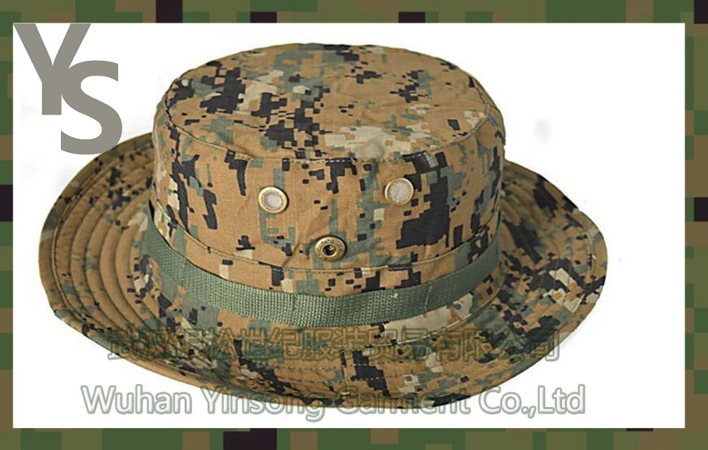 2ff9b463ec6  Wuhan YinSong  Tactical Boonie Hat Military Men Women Outdoor Travel Camouflage  Bucket Hat Mountaineering Army Training Hat