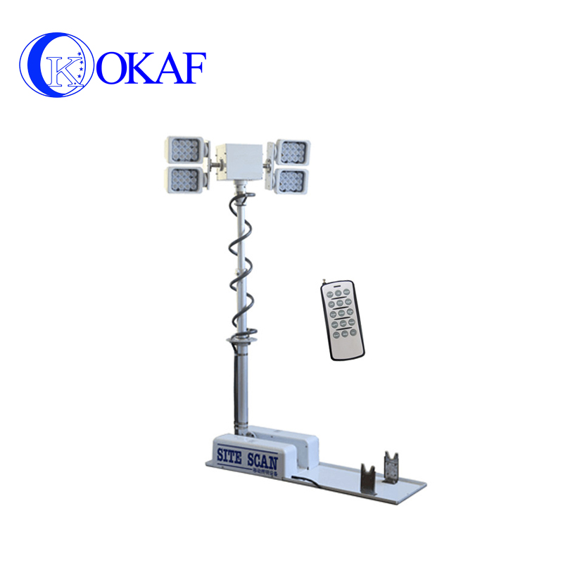 Vehicle-mounted Telescopic Mast Light Tower And Pneumatic Telescopic Mast Light