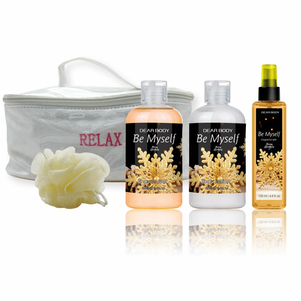 2017 Hot Sale Personal Care Bath Cosmetic Promotional Gift Set for Christmas