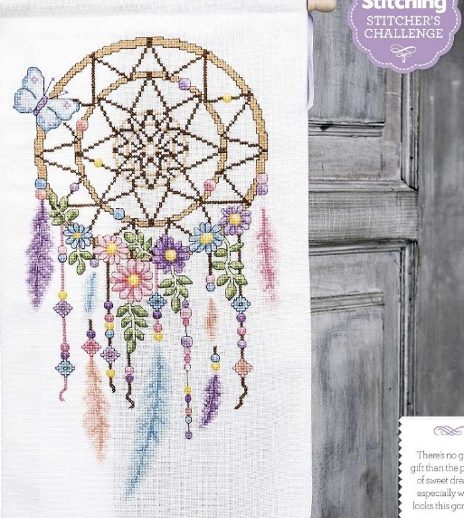 228df462a US $16.49 45% OFF|QT2571 Indian dream catcher feather magazine cross stitch  kit DMC Threads sewing craft Handmade DIY craft embroidery needlework-in ...