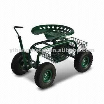 Rolling Garden Work Seat Cart With Turnbar Tc4501f Buy Tractor