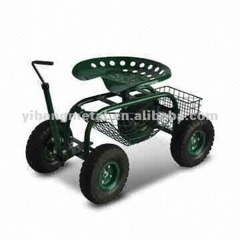 Rolling Garden Work Seat Cart With Turnbar Tc4501f Buy Tractor Seat For Draughtsman Chair