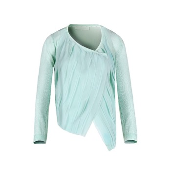 Latest design girls cheap nice long sleeve chiffon bolero shrug sweaters  for womens e55400728