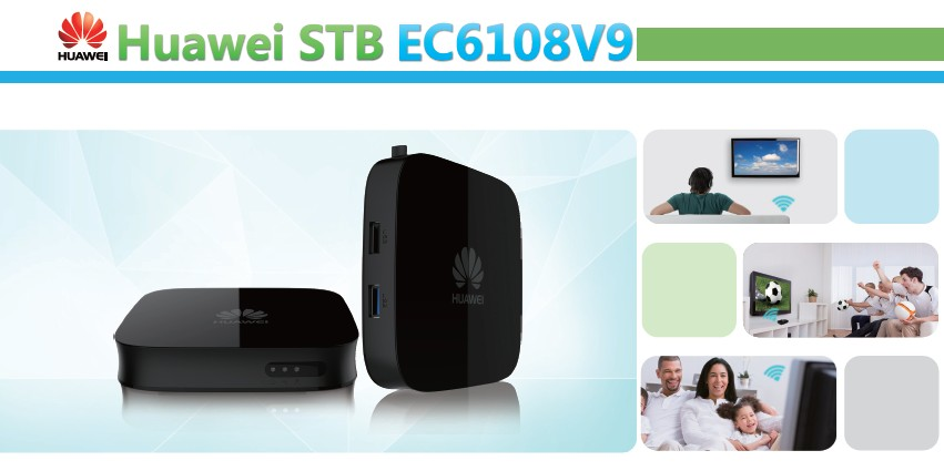 Android4.4 STB Ad alte prestazioni quad-core CPU USB3.0 Interfaccia Telecomando Set Top Box EC6108V9