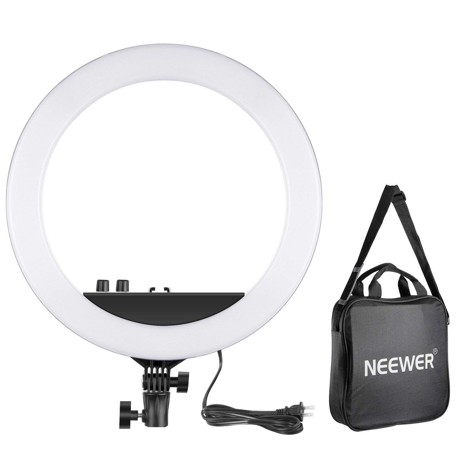 Neewer 14-inch Outer Dimmable Bi-Color LED Ring Light 30W 3200k-5600K Small Ring Light for Photo Portrait Photography, Make Up, YouTube Video Shooting