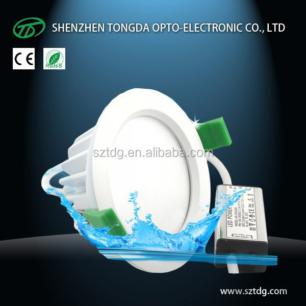 dimmable 10w 12w 15w 16w bathroom waterproof IP65 square/round led downlight