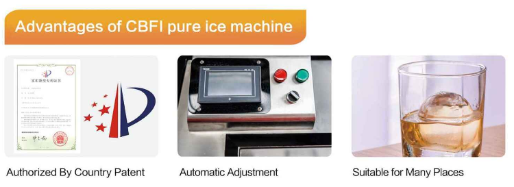 Pure ice for sculpture clarity ice block machine pure ice machine