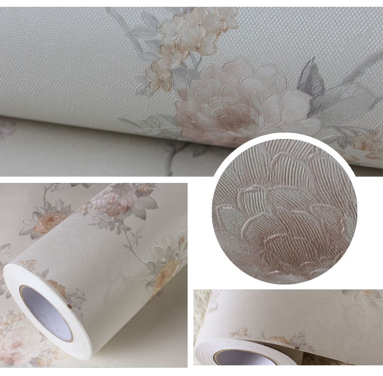 Modern Decorative Self-adhesive White Vinyl Wallpaper Factory ...