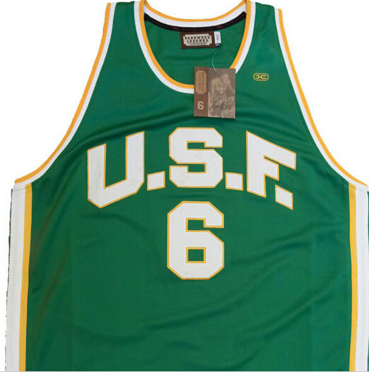University of San Francisco 6 Bill Russell Jersey back e4a6f312b