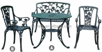 Garden Furniture Cast Aluminium Bistro Set Outdoor Chairs And Table Ld 053