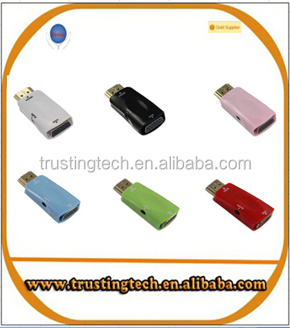factory direct selling HDM to VGA with audio cable HDMITO VGA