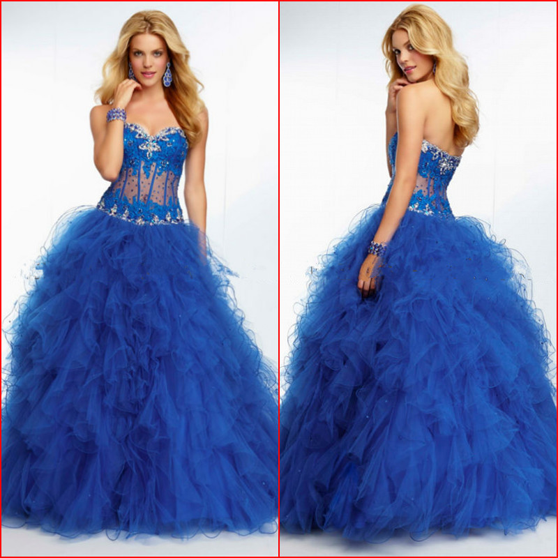 2014 Elegant Ball Gown Lace Bodycon Beads Love Forever