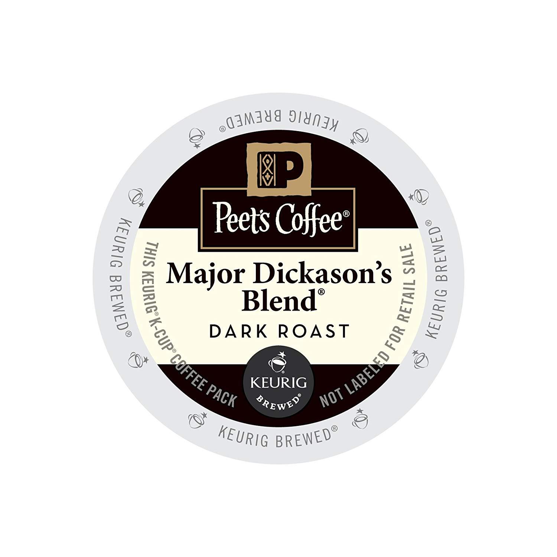 Peet's Coffee & Tea Coffee Major Dickason's Blend K-Cup Portion Pack for Keurig K-Cup Brewers, 88 Count
