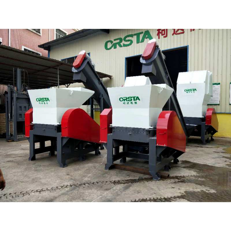 Grote HDPE plastic emmer crusher/verpletterende machine/equipement