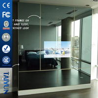 "42"" Wall-mounted Motion Sensor Lcd/led Advertising Player Magic Mirror Advertisement"