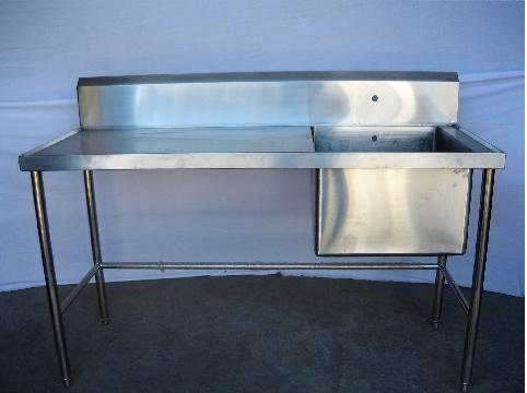 Single Compartment Sink Table
