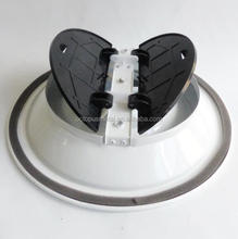 Marine air vent with butterfly damper