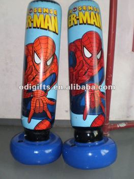 Inflatable Spiderman Punching Bag Toy Pvc Cartoon Air