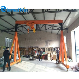 Factory price mobile single girder door portal gantry crane 1ton