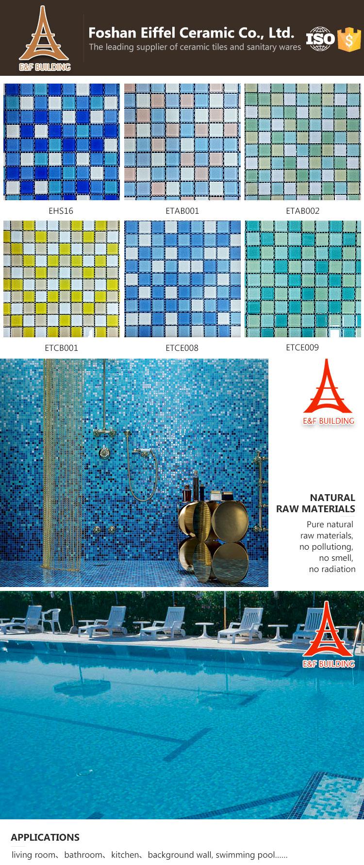 Grosshandel Billig Klarglas Mosaik Badezimmer Bodenfliesen Klassische